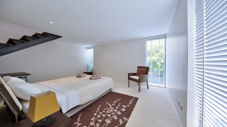 Koh Samui Luxury Villa for sale; Koh Samui Beach front Villa for Sale, Bedroom 3 lower level,