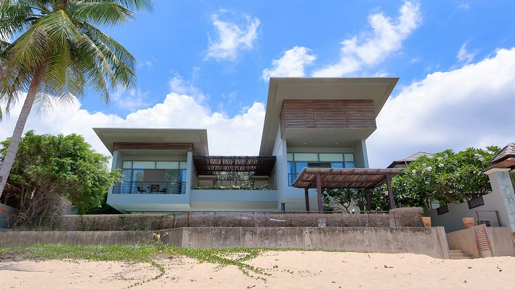 Koh Samui Luxury Villa for sale; Koh Samui Beach front Villa for Sale, View from beach,