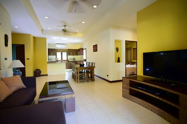 Koh Samui villa for sale, Koh Samui bungalow for sale, 3 bedroom house for sale, living room,