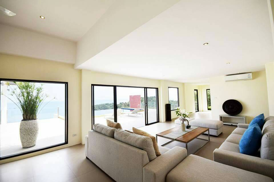 Koh Samui ocean view villa for sale, Ko Samui luxury villa for sale, Lounge,
