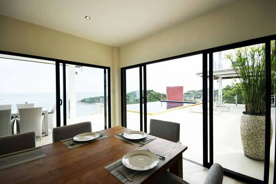 Koh Samui ocean view villa for sale, Ko Samui luxury villa for sale, Dining Room,