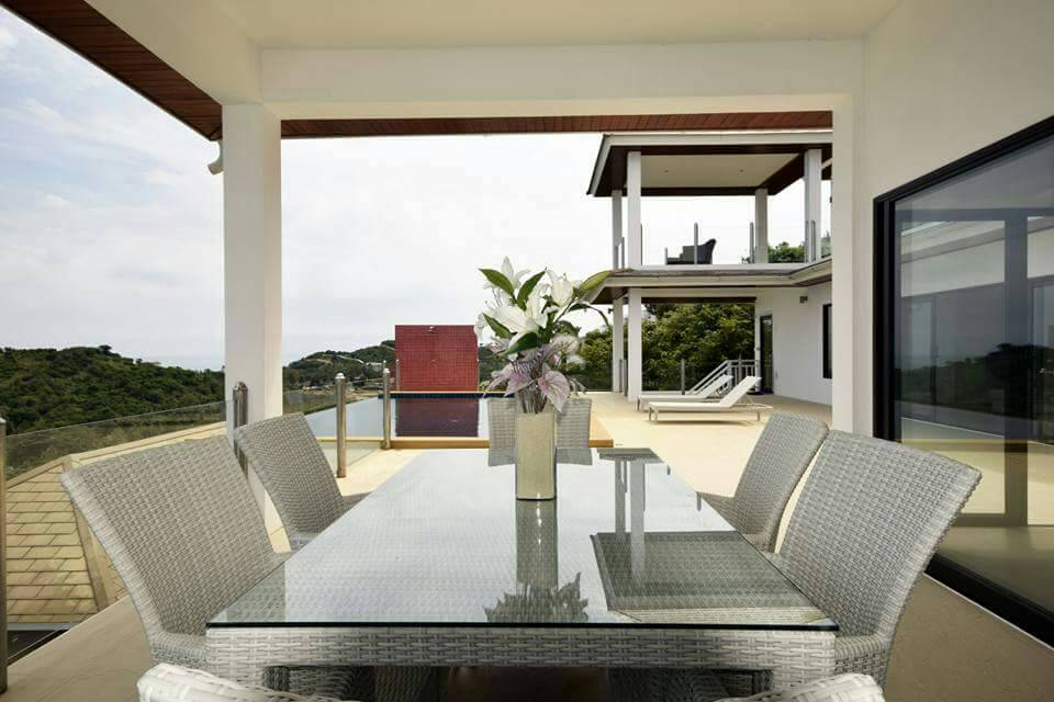 Koh Samui ocean view villa for sale, Ko Samui luxury villa for sale, Terrace Dining,