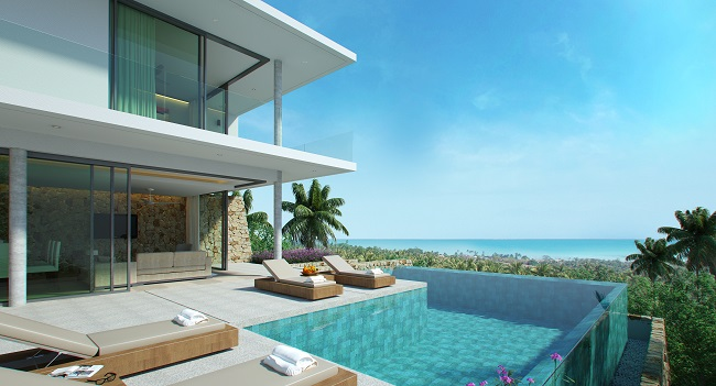 Koh Samui New villa for sale, New sea view villa for sale in Koh Samui, pool