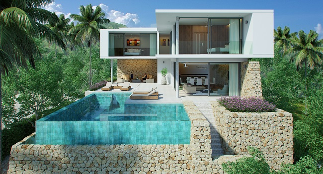 Koh Samui New villa for sale, New sea view villa for sale in Koh Samui,