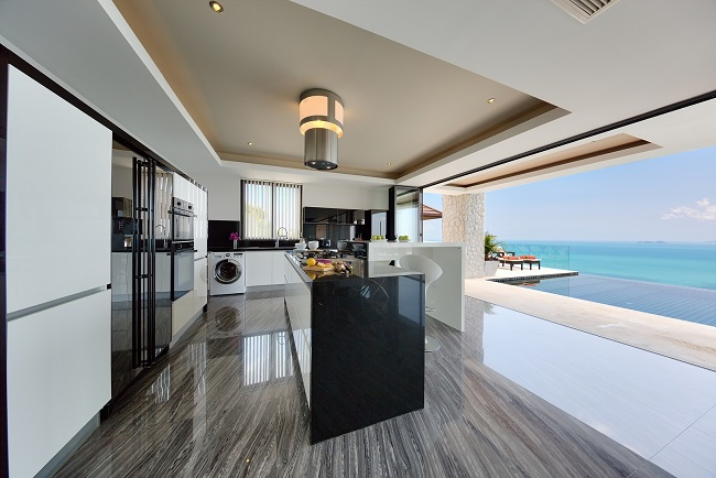 Koh Samui Luxury Villa for sale, Angthong Hills villa for sale, Kitchen
