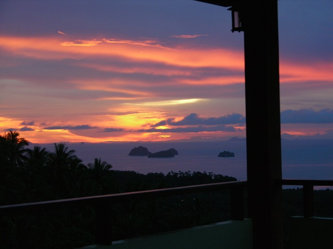 Koh Samui Sea View villa for Sale, Five Islands view villa for Sale, Sunset