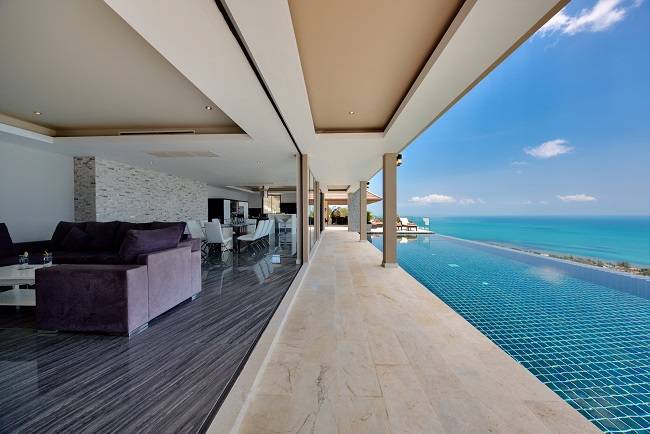 Koh Samui Luxury Villa for sale, Angthong Hills villa for sale, Deck