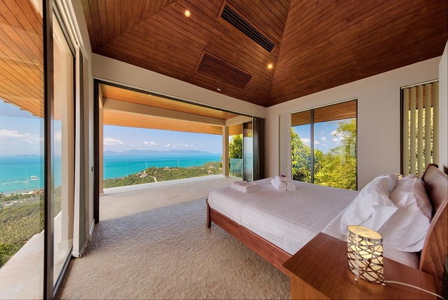 Koh Samui Luxury Villa for sale, Angthong Hills villa for sale, Bedroom 1