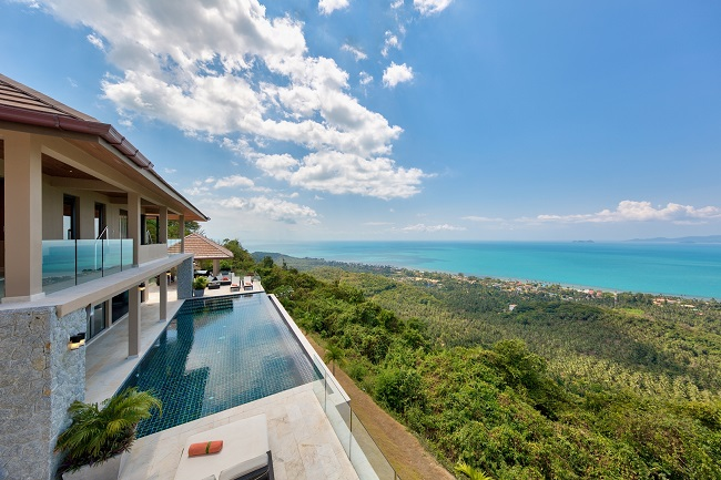 Koh Samui Luxury Villa for sale, Angthong Hills villa for sale, Balcony View