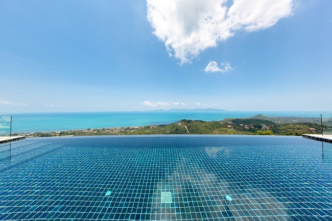 Koh Samui Luxury Villa for sale, Angthong Hills villa for sale, Horizon Pool