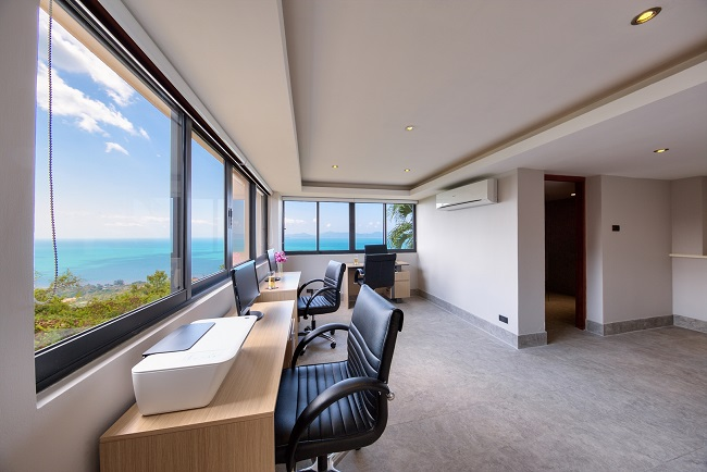 Koh Samui Luxury Villa for sale, Angthong Hills villa for sale, Study or Maids Room