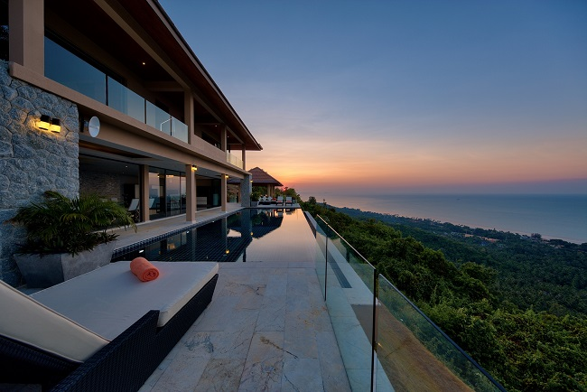 Koh Samui Luxury Villa for sale, Angthong Hills villa for sale, Dusk