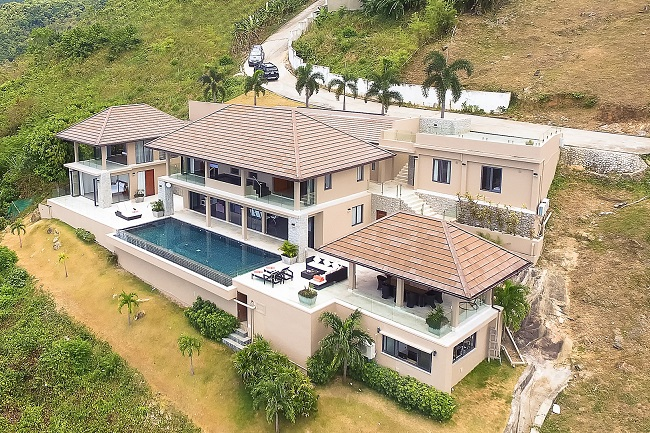 Koh Samui Luxury Villa for sale, Angthong Hills villa for sale, Aerial View