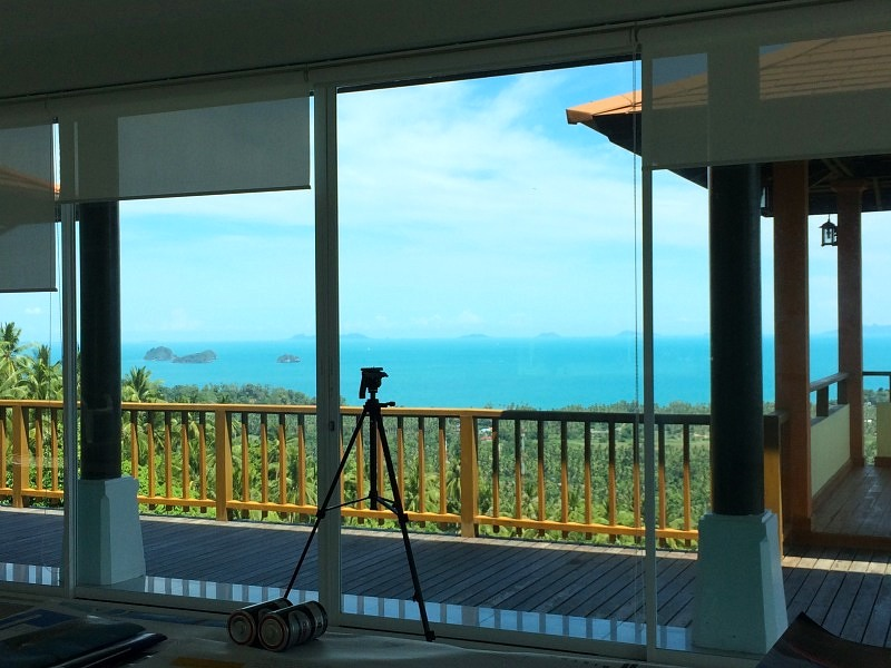 Ko Samui Properties, Sea View villa for Sale, Five Islands view villa for Sale, View from living room