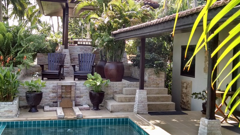 Koh Samui Villa For sale, sea view villa for sale, four bedroom villa for sale, Mid terrace and waterfall