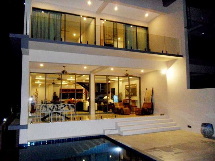 Koh Samui Villa for sale, New Villa for Sale, Sea view villa for Sale, pool area