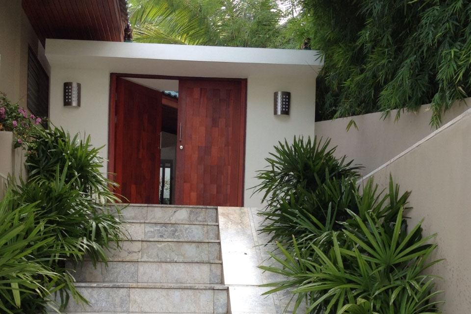 Koh Samui sea view villa for sale, Ko Samui Properties, entrance,