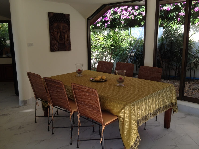 Koh Samui sea view villa for sale, Ko Samui Properties, dining room,