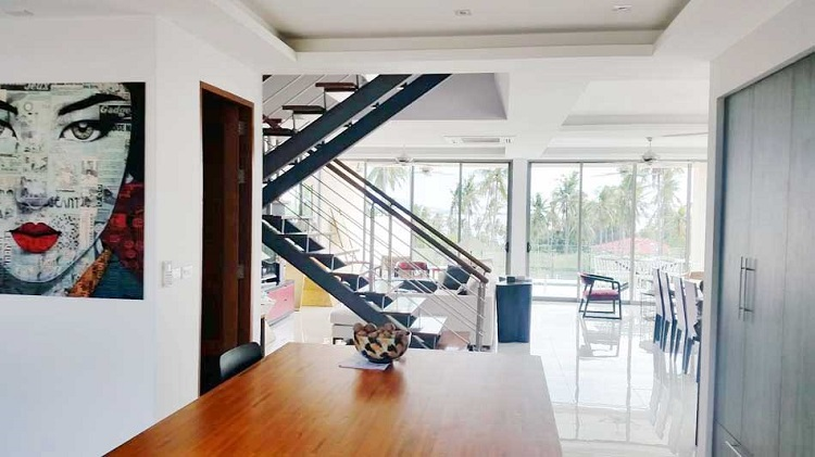 Koh Samui Villa for sale, New Villa for Sale, Sea view villa for Sale, view-from-kitchen