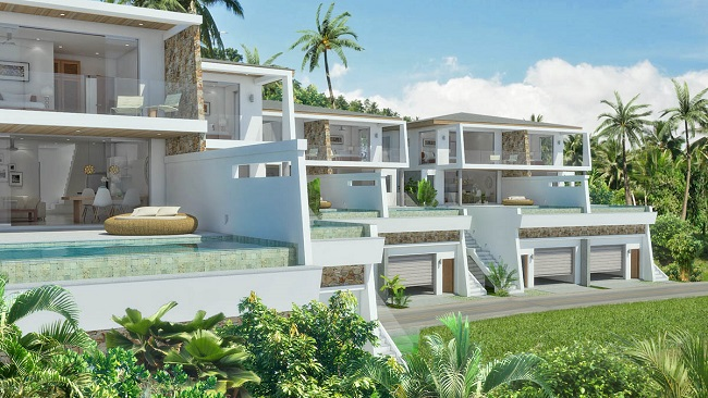 Koh Samui sea view villas for sale, new sea view villas for sale, Samui Sunset Lagoon villas for sale,