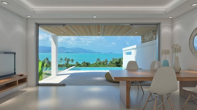 Koh Samui sea view villas for sale, new sea view villas for sale, Samui Sunset Lagoon villas for sale, view,