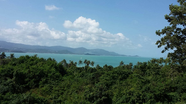 Koh Samui sea view villas for sale, new sea view villas for sale, Samui Sunset Lagoon villas for sale, actual view,