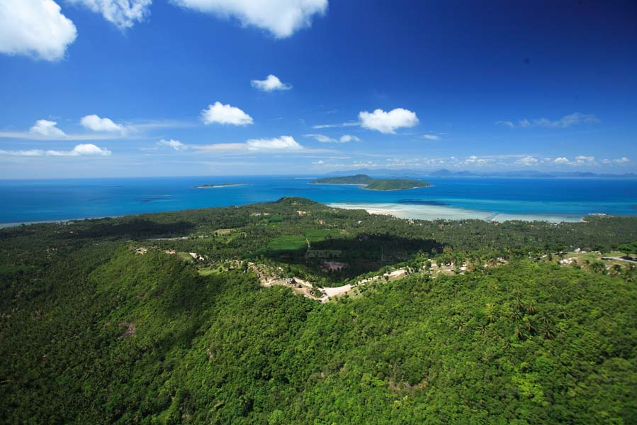 Koh Samui Luxury land plots for sale, sea view land plots for sale, one rai land plots for sale, aerial view,