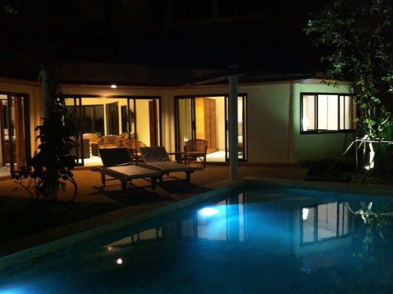 Koh Samui sea view villa for sale, Ko Samui Properties, night view,