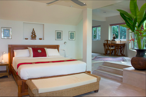 Koh Samui villas for sale, Ko Samui Properties villas for sale, sea view villas for sale, bedroom,