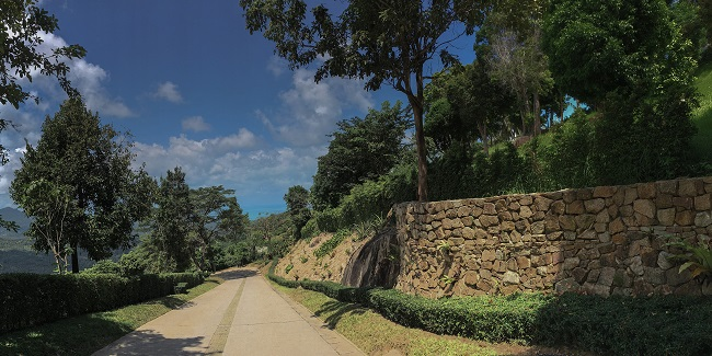 Five new Luxury Villas in Koh Samui for sale, hilltop luxury villas in Samui for Sale, access road,