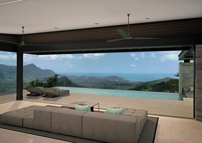 Five new Luxury Villas in Koh Samui for sale, hilltop luxury villas in Samui for Sale,