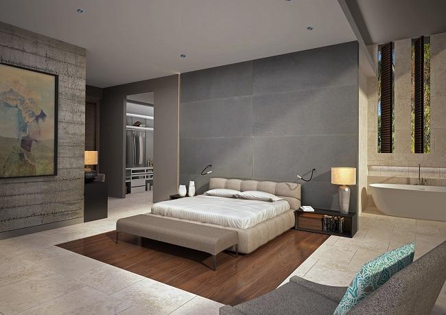 Five new Luxury Villas in Koh Samui for sale, hilltop luxury villas in Samui for Sale, bedroom,