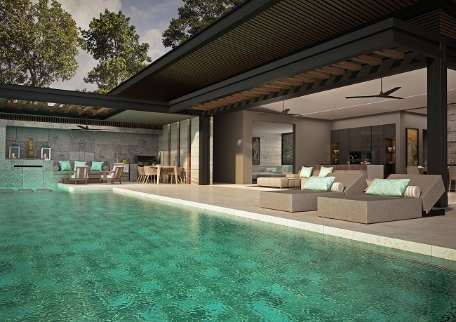 Five new Luxury Villas in Koh Samui for sale, hilltop luxury villas in Samui for Sale, pool,