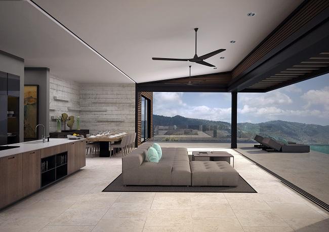 Five new Luxury Villas in Koh Samui for sale, hilltop luxury villas in Samui for Sale, living room,