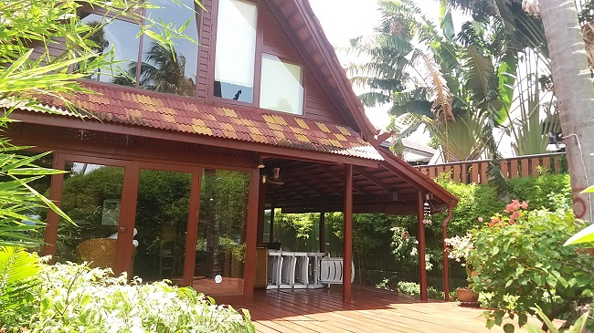 Ko Samui Properties vacation villa for sale on long lease, beach villa for sale,