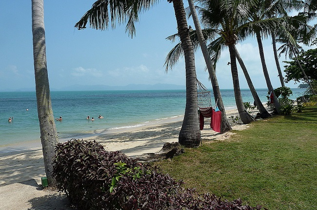 Ko Samui Properties vacation villa for sale on long lease, beach villa for sale, beach,