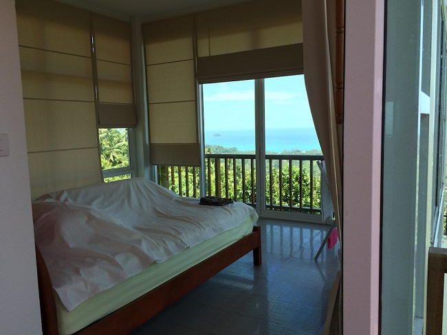 Ko Samui Properties, Sea View villa for Sale, Five Islands view villa for Sale, bedroom,