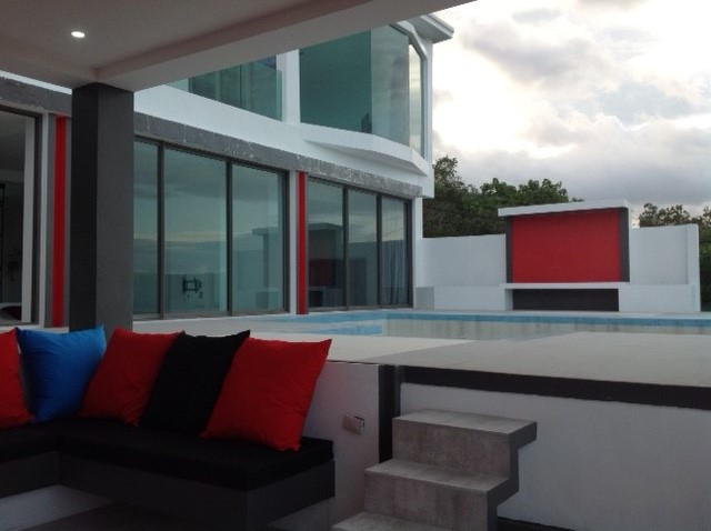 Ko Samui Properties new sea view villa for sale, large new villa for sale in Ko Samui,