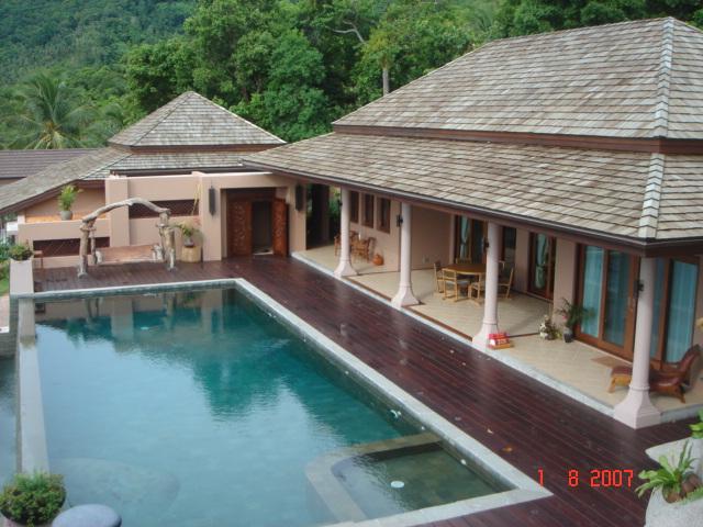 Ko Samui Properties luxury villa for sale, Koh Samui hillside sea view villa for sale,