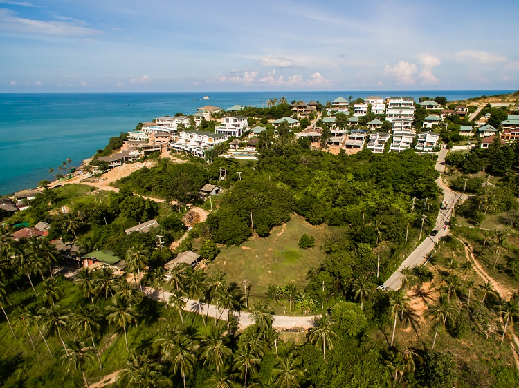 Ko Samui Properties land for sale, hillside land for sale,