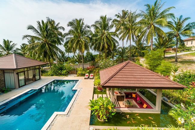 Ko Samui Properties pool villa for sale in Angthing Hills, Ko Samui Properties sea view villa for sale in Koh Samui, property for sale in Thailand,