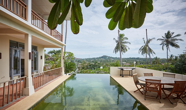 Ko Samui Properties 5 bedroom villa for sale, Sea view villa for sale, large villa on double plot for sale,